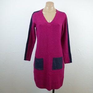 Tommy Hilfiger Purple Sweater Dress S V-neck L/S